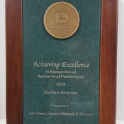 John Deere Achieving Excellence Supplier Award